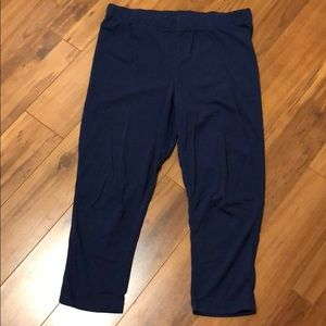 Navy crop leggings